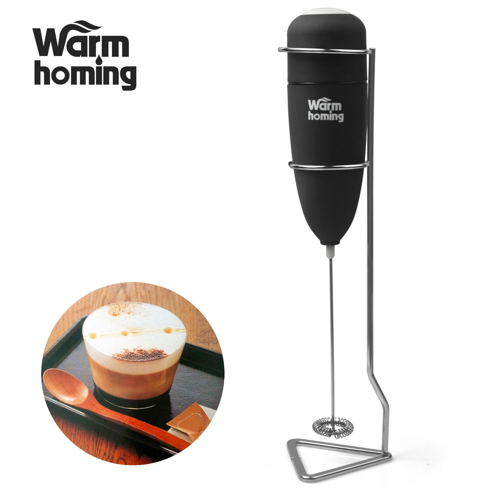 Milk frother, Electric Milk Frother with Stand for Latte Milk Coffee or Cappuccino Maker Tea Bar in Kitchen Home