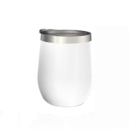 12 oz Wine Tumbler with Lid, Double Wall Vacuum Insulated Stemless Glass, Stainless Steel Wine Cup with Straw and Straw Brush for Wine, Coffee, Drinks, Champagne, Cocktails, 2 Sets