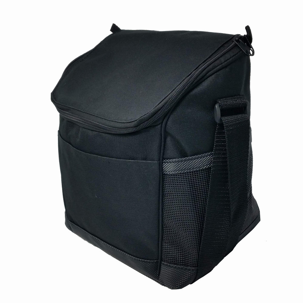 Large Insulated Lunch Bag Reusable Lunch Box Picnic Roomy Compartments Cooler Bag Bottles, Containers Lunch Box for Men, Women, Adjustable Shoulder Strap (CO1200-Black)