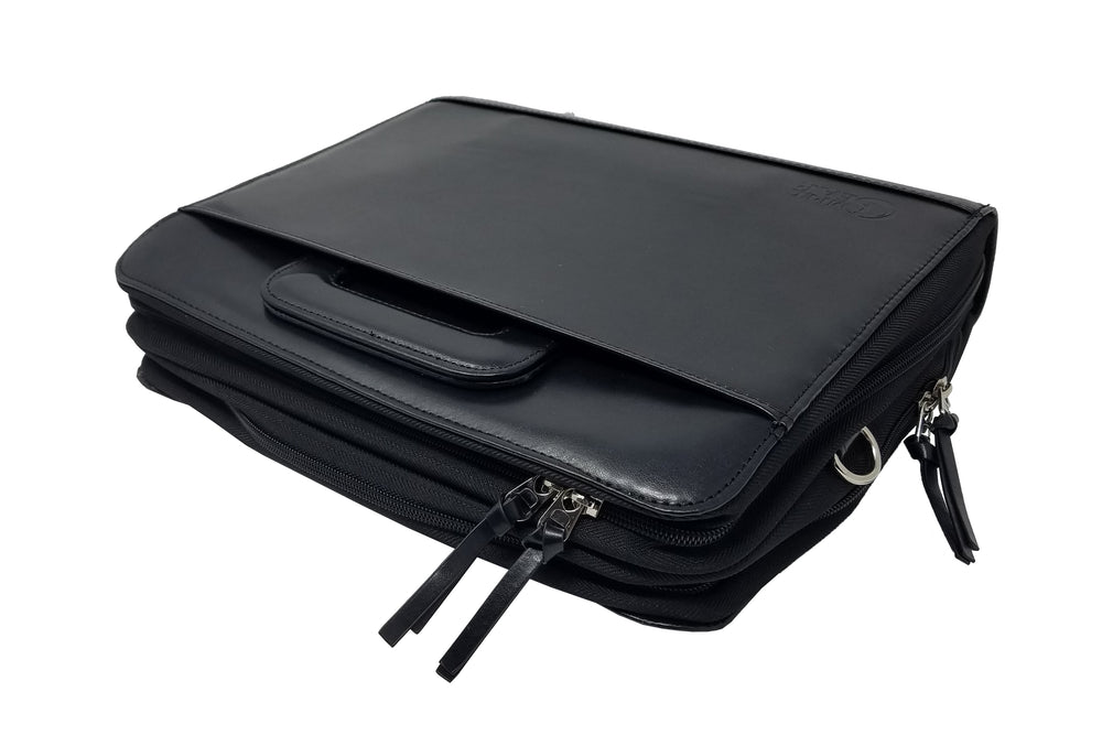Impecgear Professional Portfolio Padfolio Organizer File Dividers with Notepad 3-Ring Binder (Free Pen)