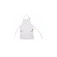 Apron Bib Commercial Restaurant Home Bib Spun Poly Cotton Kitchen Aprons (2 Pockets) (2, White)
