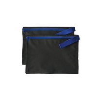 "2 PACK ImpecGear Document Zipper Cash Bags Poly Cloth Value Packages, 12.5"" x 9.5"" (Royal)"