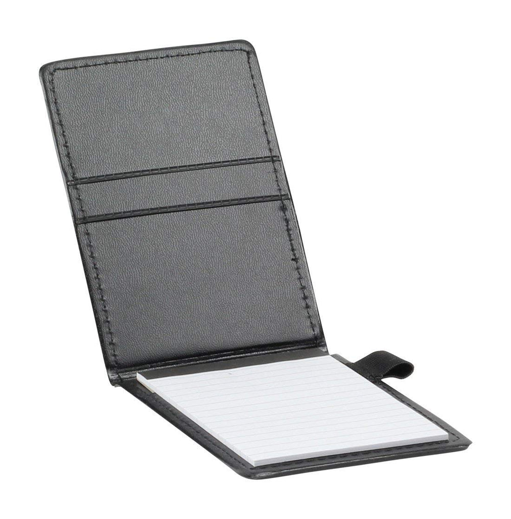 ImpecGear Executive Jotter Notepad Organizer with Business Card Slots, Journalist Jotter, Flip Notepad with Pockets and Pen Holder (Executive Jotter)