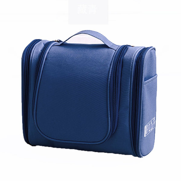 Deluxe Travel Kit W/Hanger Luggage Accessories Personal Care Bag (Navy)