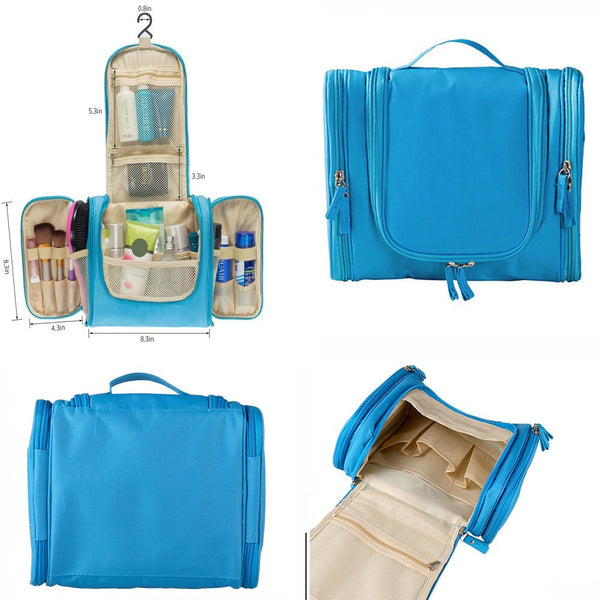 Deluxe Travel Kit W/Hanger Luggage Accessories Personal Care Bag  (Sky Blue)