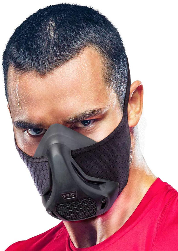 Black Stamina/Training Mask High Altitudes Stimulate Gym Cardio Fitness Running