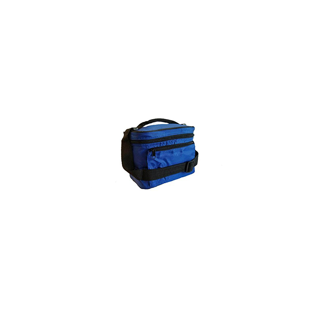 "9.5"" Mini Insulated Cooler Bag, Thermal Lunch box, Lunch Bag W/ Shoulder Strap, Royal"