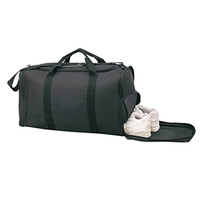 Sports Gym Yoga Travel Fitness Bag with Shoe Storage Duffle in Black 21""