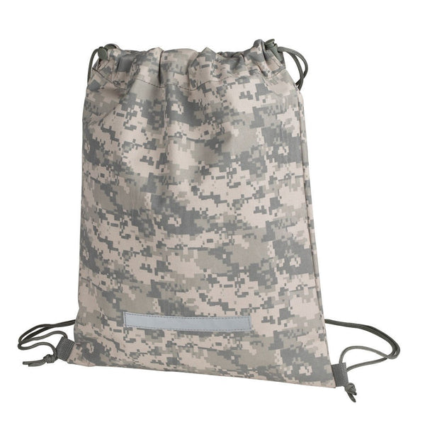 ImpecGear Heavy Duty Drawstring Backpack Camouflage Army Navy Military Sack Bag