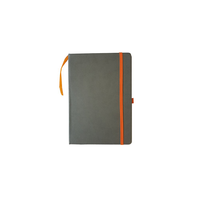 ImpecGear Classic Notebook/ Writing Journal 5.5 x 8.25 Black Gray Orange FREE PEN (PACK OF 1, Gray/Orange)