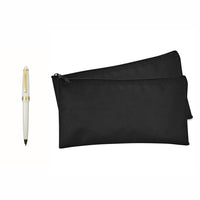 2 Bank Bags Money Pouch Security Deposit Utility Zipper Coin Bag (With Pen)