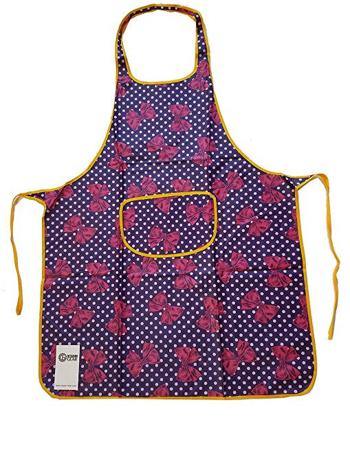 "Heavy Duty Vinyl Waterproof One Size Fit All Durable Kitchen Dish Washing Cooking Bib 38"" x 22"" (15, Style 18)"