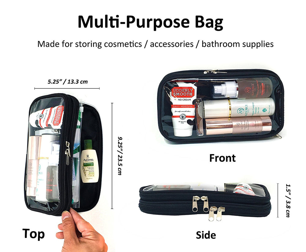 ImpecGear Travel Electronic Organizer Pouch Accessories Bag & Hygiene Costmetic Bag Kit IN-ONE (Red or Black Pack Of 1 (TK1091)
