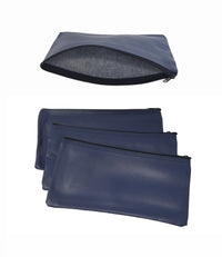 4 Piece Set PM Company Security Bank Deposit Bag / Utility Zipper Coin Bag / Pouch Safe Money Organizer Bag / 11 X 5.5 Inches (FREE RETURN) (4 Envelope - 1 of Each Color)