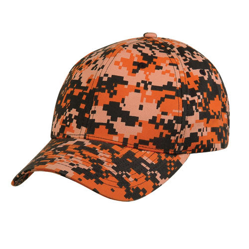 Pixel Camoflauge Cotton Baseball & Trucker Hat/Cap W/ 6 Panel Crown for Outdoors