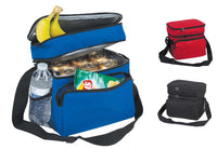"10"" Deluxe Lunch Box Bag, Baby Food Storage Cooler Bag, 8-Can, Insulated w/ Carry Handle Shoulder Strap (Black)"
