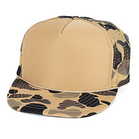Camouflage Trucker & Baseball Hat/Cap W/ Poly Foam Front & Foam Backing - CPC