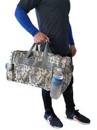 "ACU Duffle Bag Digital Camouflage Duffel Bag Travel Camo Gym Bag 18"" Sports Bag"