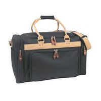 "22"" LARGE Deluxe Sport Gym Tote Bag and Travel Duffel Bag Carry Black/ Khaki"