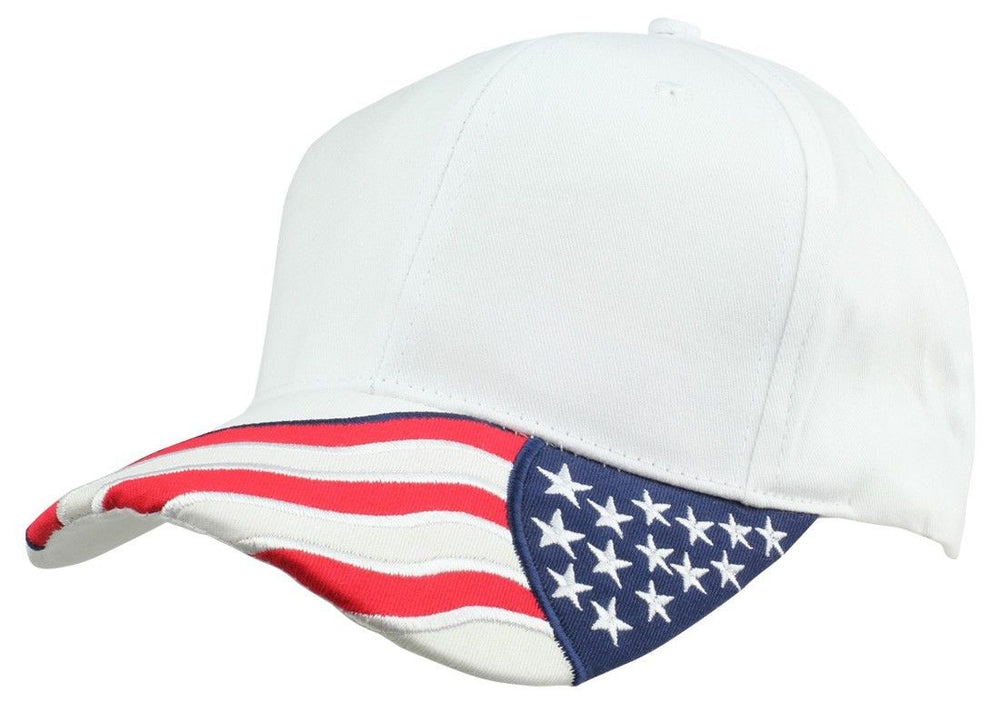 2 Packs - ImpecGear American Flag Patriotic Flag Baseball Cap/ Hat in Red, Black, White, Khaki and Navy Blue Stars and Wavy Stripes (2 PACK FOR PRICE OF 1)