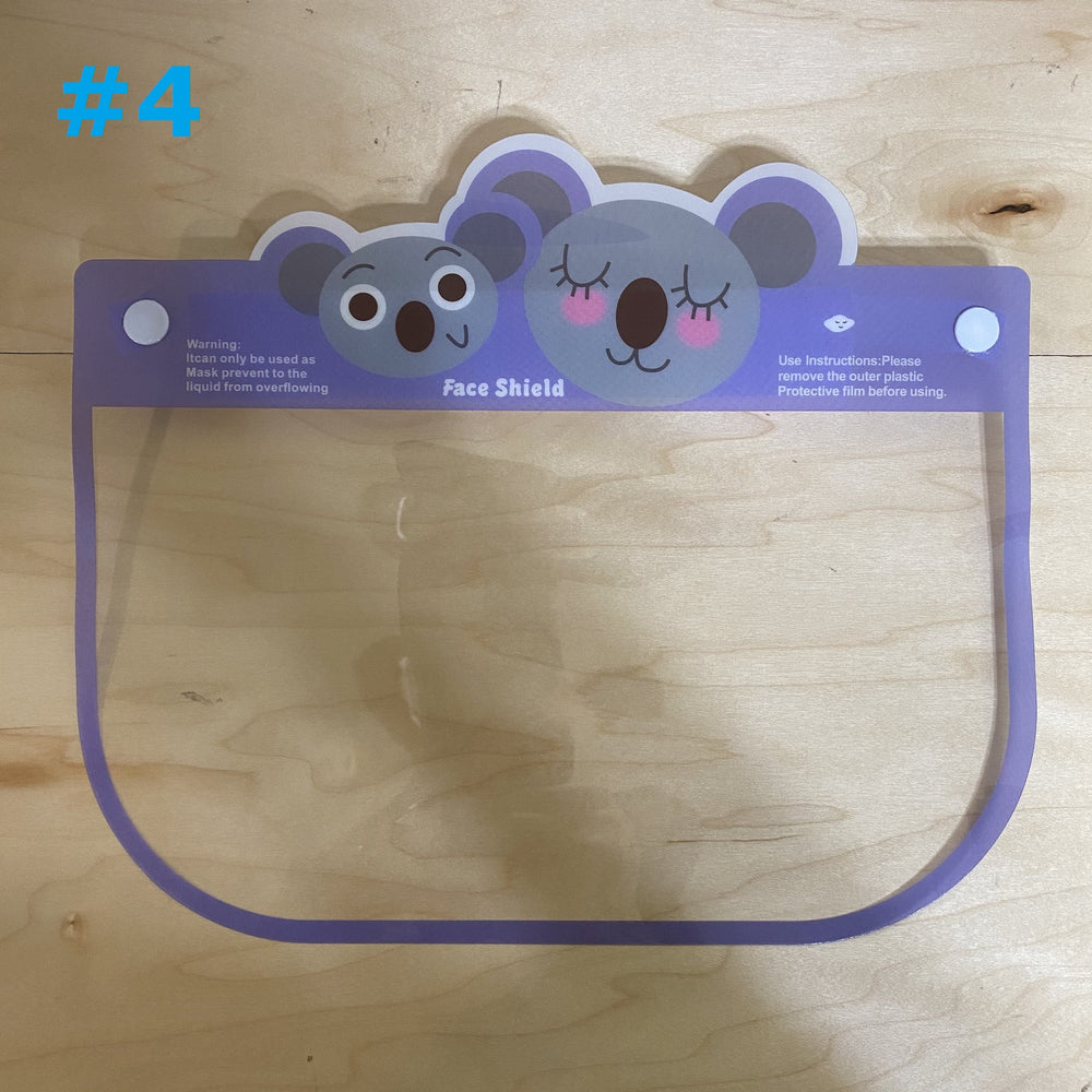Face Shields for Toddlers and Kids Direct Splash Protection Face Cover - Bunny, Tiger, Koala, Puppy, Whale, Monkey