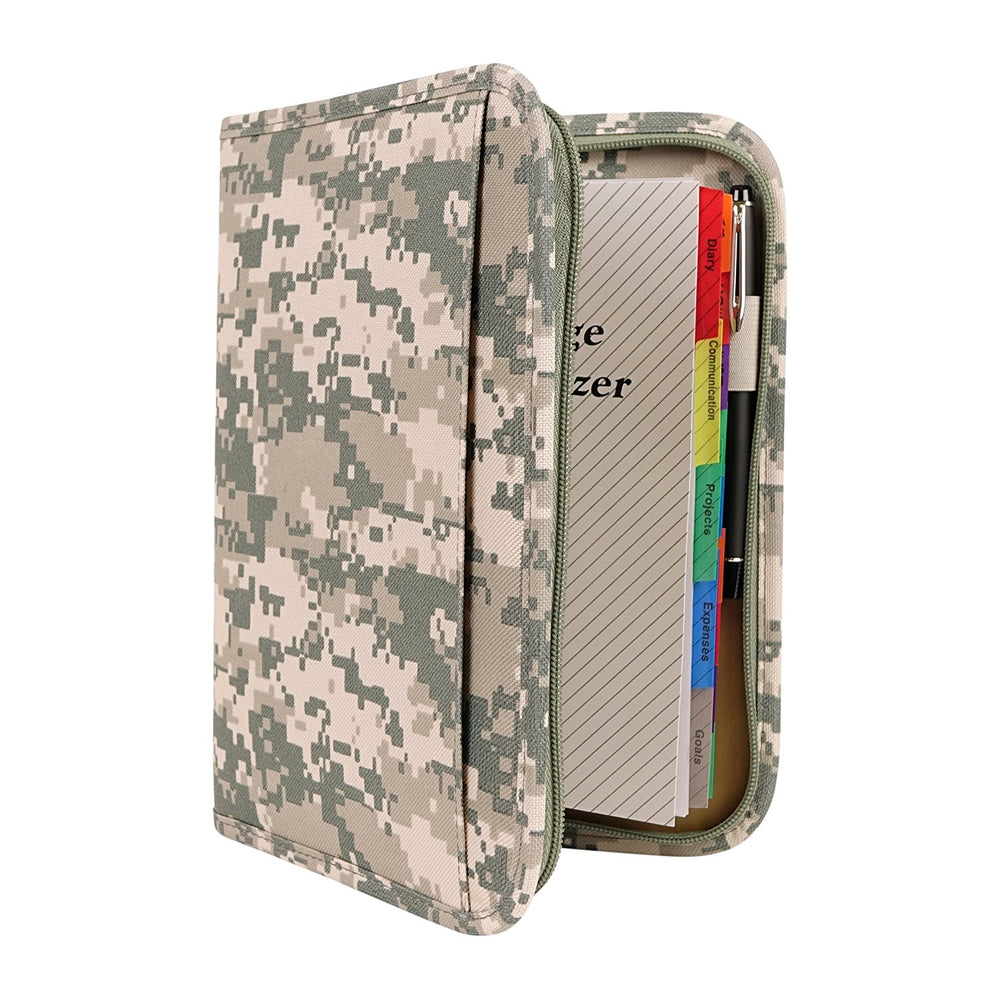 ImpecGear ACU Digital Camo Mid-Sized Binder with File System Planner Organizer (FREE PEN)