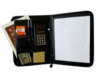 10-Business-Zippered-Padfolio-w-Calculator-Notepad-Organizer-WHOLESALE-BULK