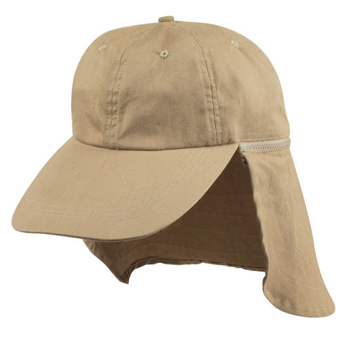 Ear Flap Cotton Cap For Golf Hiking Outdoors Sun Protection Hat Ultra Protective
