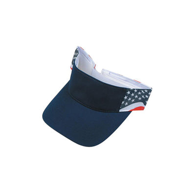 ImpecGear 2 Packs USA Flag Patriotic American Visor (2 Pack for Price of 1)