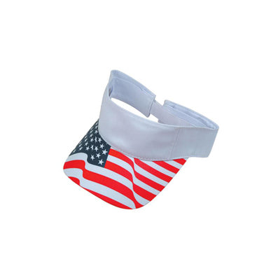 ImpecGear 2 Packs USA Flag Patriotic American Stripes Visor  (2 Pack for Price of 1)