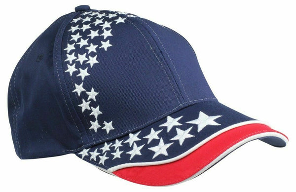 Mens New Blank Hat USA POWER Flag Cap ALL STAR 6 Panels American Patriotic Caps