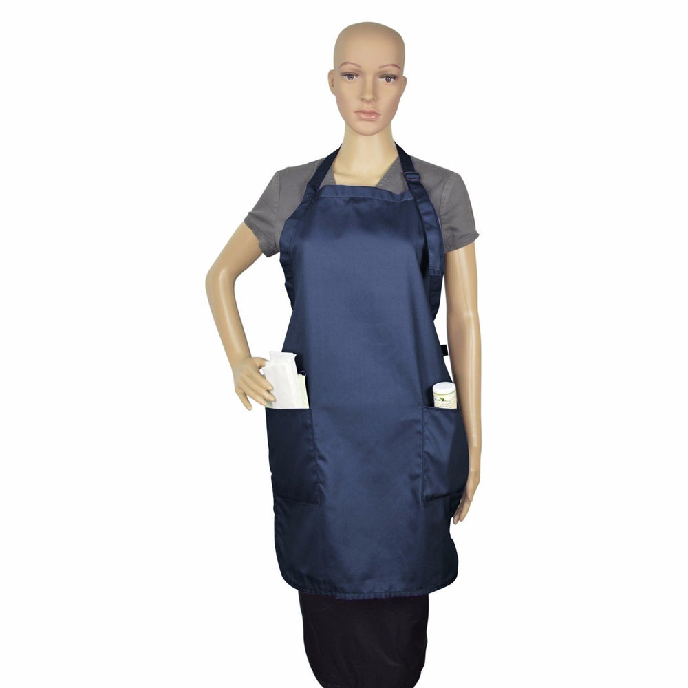 50-Apron-Bib-Commercial-Restaurant-Home-Spun-Poly-Cotton-Kitchen-Wear (2-Pocket)