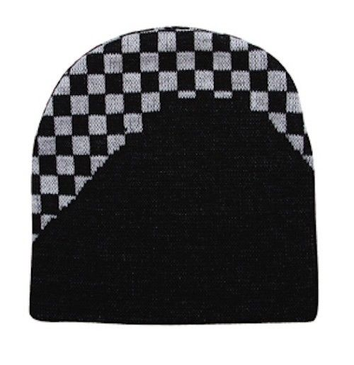 New-Auto-Racing-Flag-Checkers-Warm-Winter-Beanie-Beanies-Hats-Cap-Caps-Unisex
