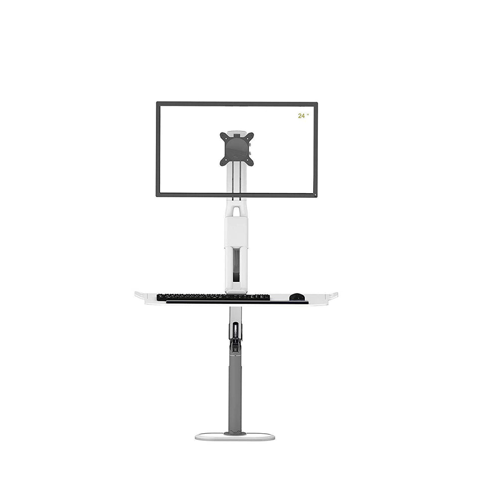 Innovative G20 Ergonomic Sit Stand Desk Converter Height Adjustable Standing and Sitting Desk Workstation Arm for Monitor Computer Monitor Mount with Keyboard Tray (G20 - Monitor Mount & Stand)