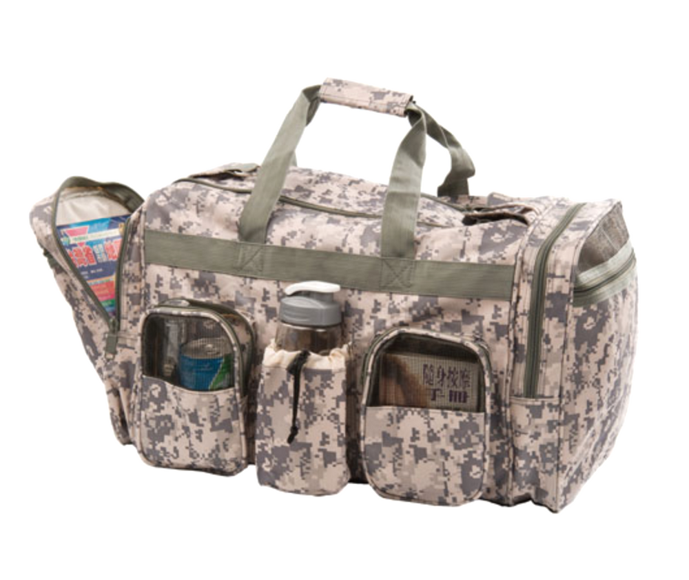 "Large 22"" Heavy Duty Duffle Bags Camo Camouflage Military Army ACU Carry-On"