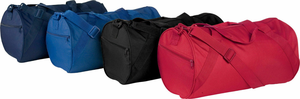 Red Nylon Roll Bag for Exercise Home Work Gym Travel Office Outdoors