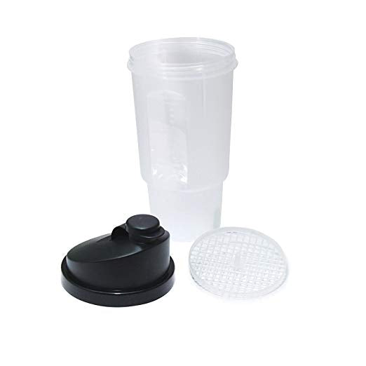 20 Oz/600 ML Protein Shaker (Pack of 3 (Black)