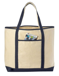 "LARGE Canvas Reusable Grocery Shopping Bag Boat Tote Totes Bag 22"" 4 Color"