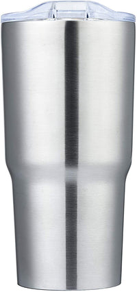 ImpecGear Tumbler for Wine, Coffee, Tea & Drinks 20oz, 100% BPA Free 18/8 Stainless-Steel Tumbler, Double Wall Insulation Hot & Cold Travel Mug with Leak-Proof Lid & Mouth Tip (SUNM4022-Silver)