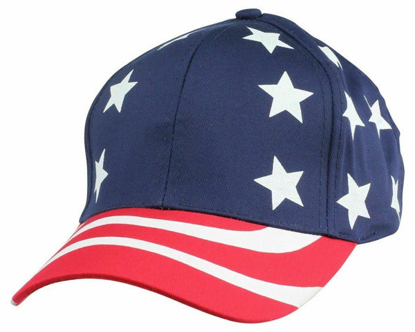 USA Flag American Patriotic Stars Stripes Baseball 6 Panel Election Hats Caps