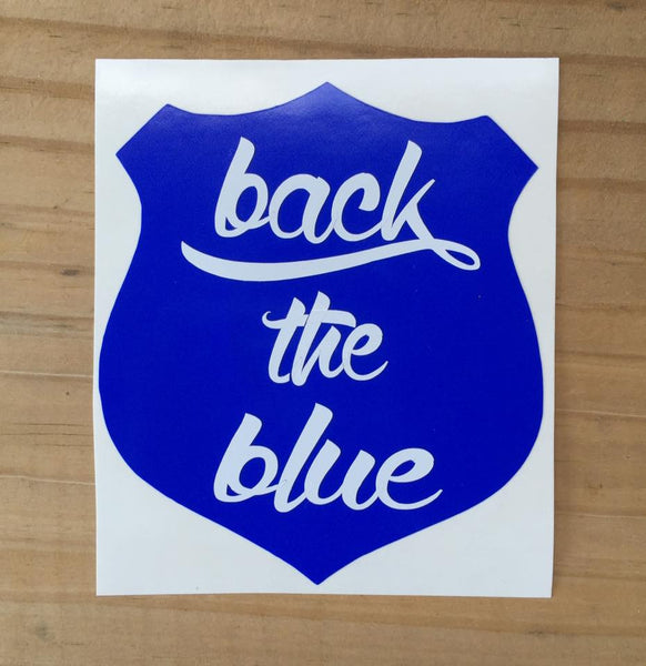 """Back the Blue"" Car Decal"