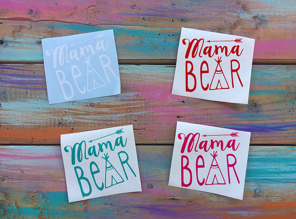 Mama Bear Car Decal