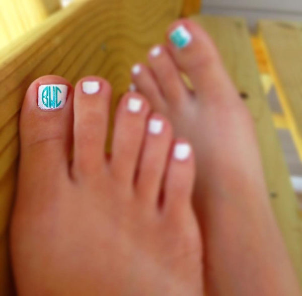 Monogram Fingernail/ Toenail Vinyl Decals