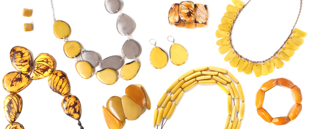 Our tagua jewelry is an alternative of Ivory. Fair trade from Ecuador