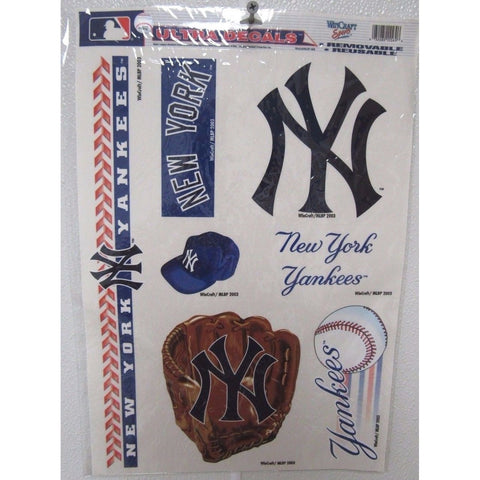 MLB New York Yankees Ultra Decals Set of 7 By WINCRAFT w/Mitt