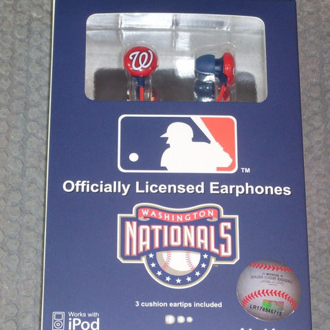 MLB Team Logo Earphones Washington Nationals By iHip