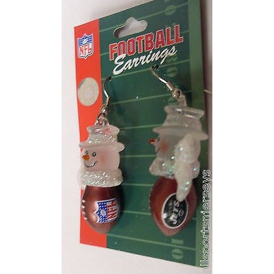 NFL Womens Snowman Earrings  New York Jets