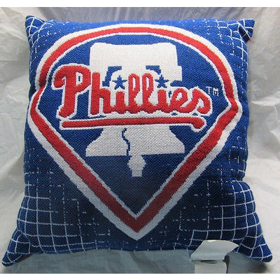 MLB NWT 20x20 JACQUARD PILLOW - PHILADELPHIA PHILLIES