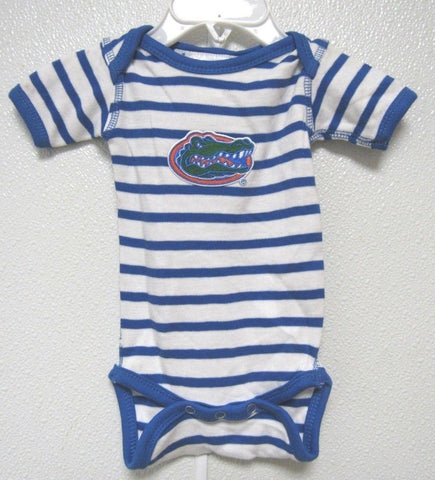 NCAA Florida Gators Stripes Lap Shoulder Creeper Royal 1 Pc NB Two Feet Ahead