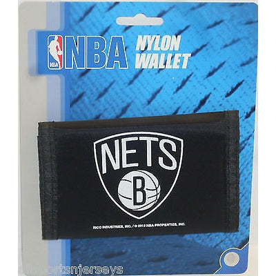 NBA Brooklyn Nets Tri-fold Nylon Wallet with Printed Logo